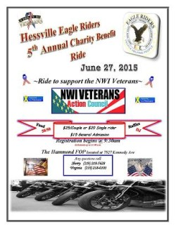 2015 5th annual charity ride flyer NWI VETERANS 1